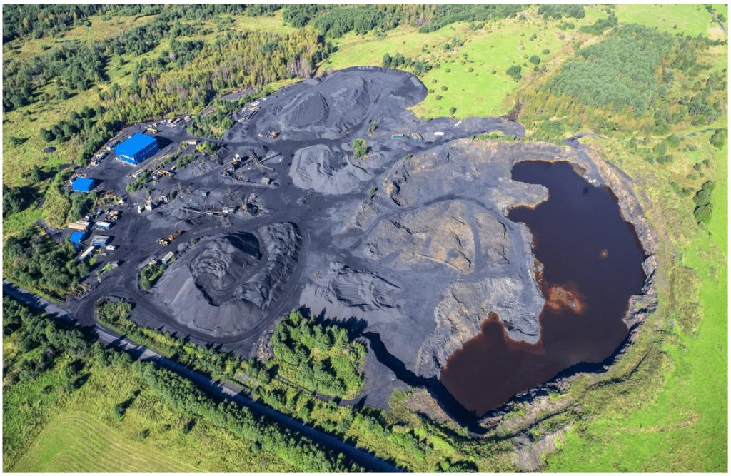 Schungit Lager in Karelien