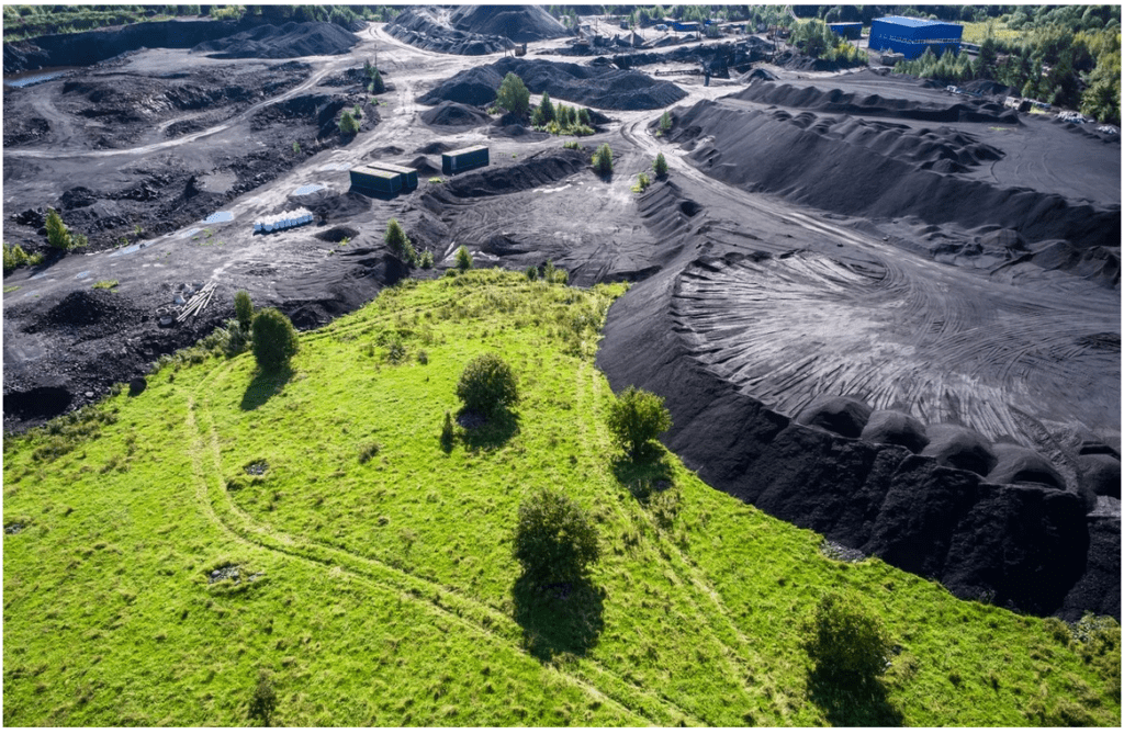 Schungit Lagerstätte Karelien