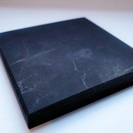 Schungit Platte 10 x 10cm (poliert)